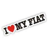 I Heart My Fiat Sticker