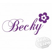 Custom Name/Slogan Flower Sticker