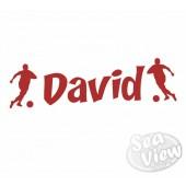 Custom Name/Slogan Footballer Sticker