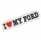 I Heart My Ford Sticker