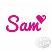 Custom Name/Slogan Heart Sticker