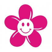 12 Smiley Daisy Flower Stickers
