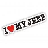 I Heart My Jeep Sticker