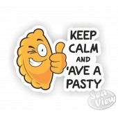 Keep Calm And 'Ave A Pasty Sticker