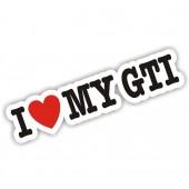 I Heart My GTI Sticker