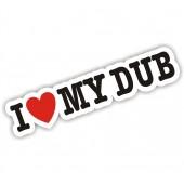 I Heart My Dub Sticker VW