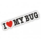 I Heart My Bug Sticker VW