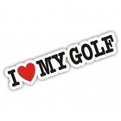 I Heart My Golf Sticker VW