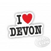 I Heart My Devon Sticker