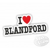 I Heart My Blandford Sticker