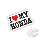 I Heart My Honda Sticker