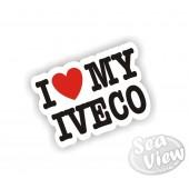 I Heart My Iveco Sticker