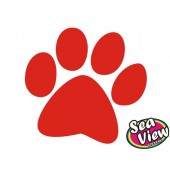 18 Large Paw Print Stickers