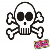18 Skull Circle Stickers
