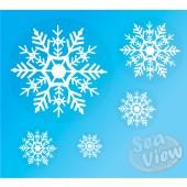 96 Reusable Snowflake Window Stickers