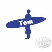 Custom Name/Slogan Surfboard Sticker