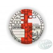 1930 Commemorative Tax Disc