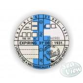 1931 Commemorative Tax Disc