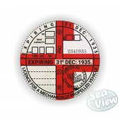 1935 Commemorative Tax Disc