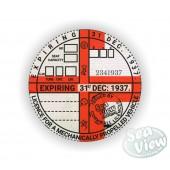 1937 Commemorative Tax Disc