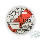 1952 Commemorative Tax Disc