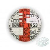 1953 Commemorative Tax Disc