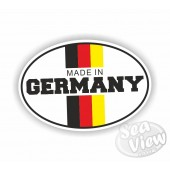 Made in Germany Oval Sticker