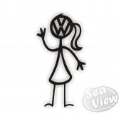 VW Woman sticker