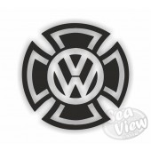 2 x VW Iron Cross Sticker X Large