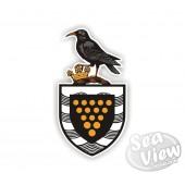 Chough on Cornish Crest Sticker