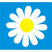 18 Daisy Flower Stickers (Any 2 Colours)