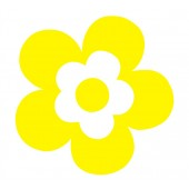 18 Large Daisy Flower Stickers
