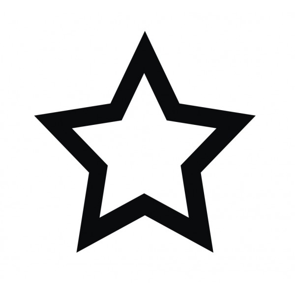 30 hollow star stickers