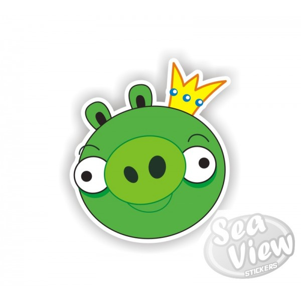 King Angry Bird Sticker