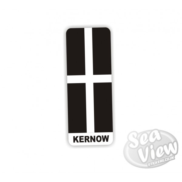 Kernow Number Plate Sticker