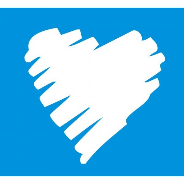 30 Scribble Heart Stickers
